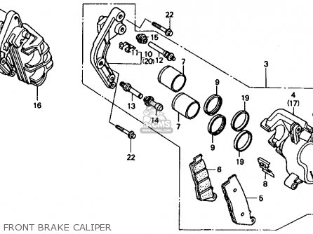 Honda CBR1000F 1990 (L) USA CALIFORNIA parts lists and