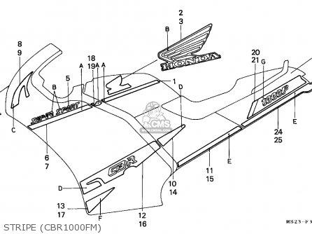 Honda CBR1000F 1991 (M) AUSTRALIA parts lists and schematics