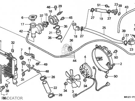 Honda CBR1000F 1991 (M) ENGLAND parts lists and schematics