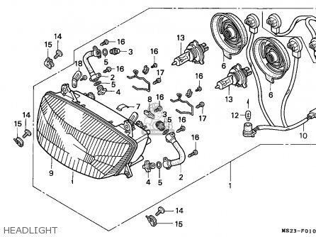 Honda Cbr1000f 1991 (m) Germany parts list partsmanual