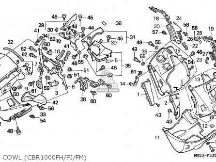 Honda CBR1000F 1991 (M) MEXICO parts lists and schematics