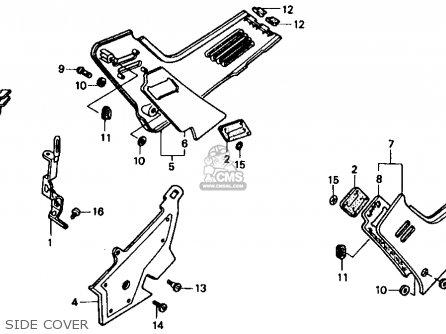 Honda Cbr1000f 1991 (m) Usa California parts list