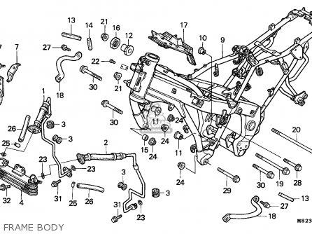 Honda Cbr1000f 1991 Sweden parts list partsmanual partsfiche