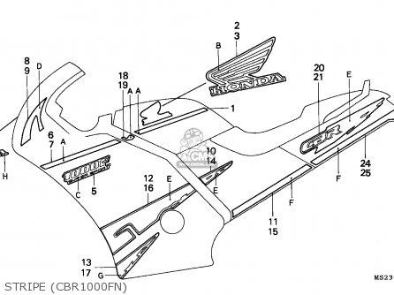 Honda CBR1000F 1992 (N) EUROPEAN DIRECT SALES parts lists