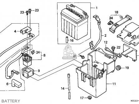 Honda Cbr1000f 1993 France parts list partsmanual partsfiche