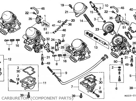 Honda CBR1000F 1993 (P) ENGLAND parts lists and schematics