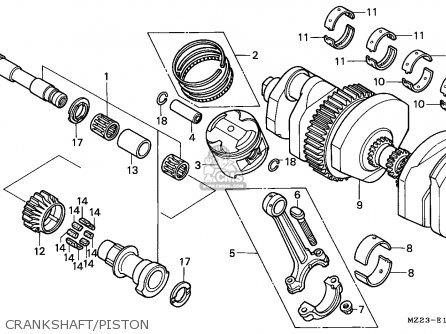 Honda CBR1000F 1993 (P) GERMANY parts lists and schematics