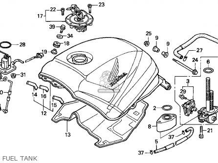 Honda Cbr1000f 1993 (p) Usa California parts list