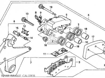 Honda CBR1000F 1993 (P) USA CALIFORNIA parts lists and