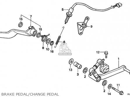 Honda CBR1000F 1994 (R) ENGLAND parts lists and schematics