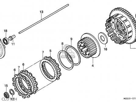 Honda Cbr1000f 1994 (r) England parts list partsmanual