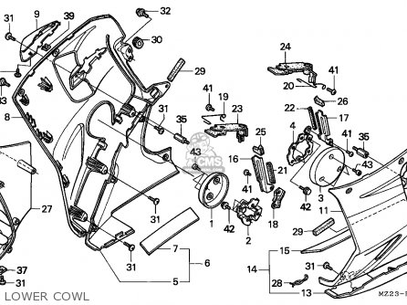 Honda Cbr1000f 1994 (r) Italy parts list partsmanual
