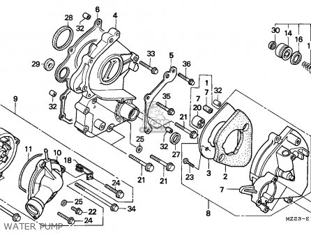 Honda CBR1000F 1994 (R) ITALY parts lists and schematics