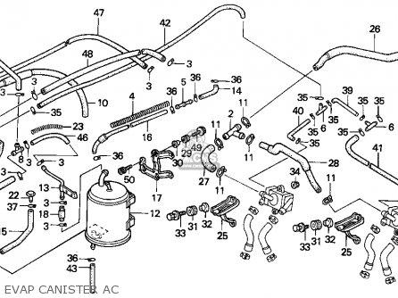Honda CBR1000F 1994 (R) USA CALIFORNIA parts lists and