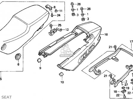 Honda Cbr1000f 1995 (s) Usa California parts list