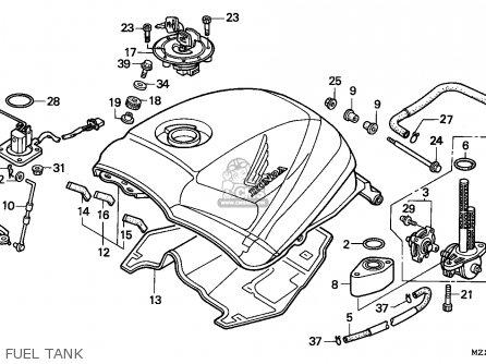 Honda Cbr1000f 1995 Spain parts list partsmanual partsfiche