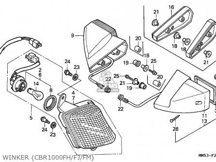 Honda CBR1000F HURRICANE1000 1987 (H) AUSTRALIA parts