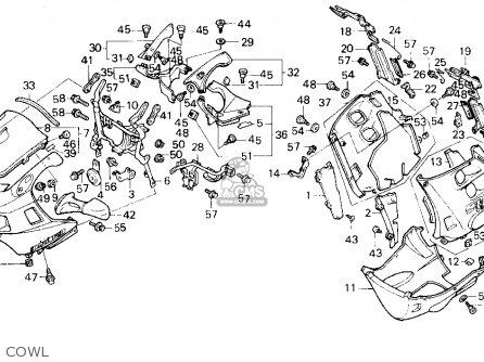 Honda Cbr1000f Hurricane1000 1987 (h) Usa California parts