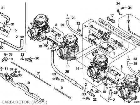 Honda Cbr1000f Hurricane1000 1988 (j) Austria parts list