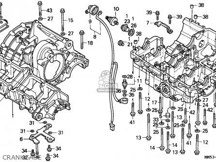 Honda Cbr1000f Hurricane1000 1988 (j) England parts list