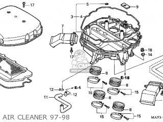Honda Cbr1100xx 1997 Usa parts list partsmanual partsfiche