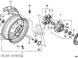 Honda CBR1100XX SUPERBLACKBIRD 2001 (1) USA parts lists