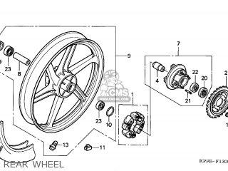 Honda CBR125R 2004 (4) ENGLAND parts lists and schematics