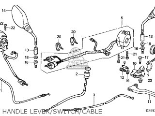 Honda CBR125R 2004 (4) FRANCE parts lists and schematics