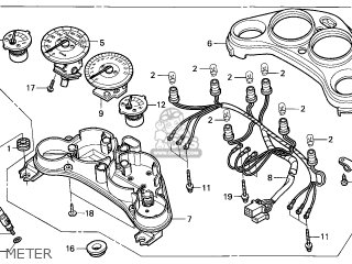 Honda CBR125R 2004 (4) FRANCE parts lists and schematics
