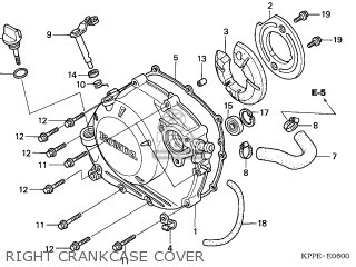 Honda CBR125RW 2005 (5) ENGLAND parts lists and schematics