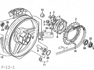 Honda CBR250R 1989 (K) JAPAN MC19-105 parts lists and