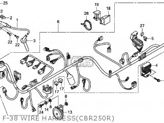 Honda CBR250R 2012 (C) parts lists and schematics