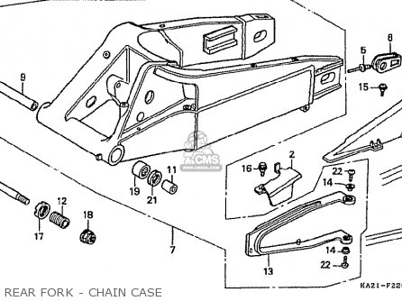 Honda Cbr250rr Mc22 1992 (n) Japan parts list partsmanual