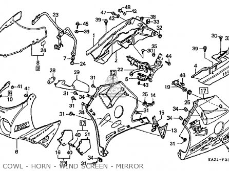 Honda CBR250RR MC22 1994 (R) JAPAN / TYPE 2 parts lists