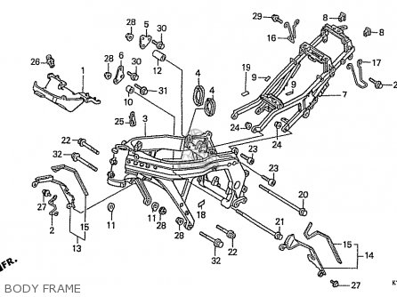 Honda Cbr400rr 1989 (k) Japanese Domestic / Nc23-109 parts