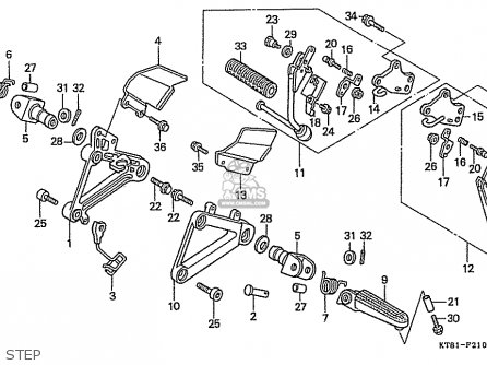 Honda Cbr400rrj (nc23) (japanese Domestic) parts list