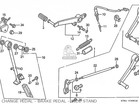 Honda Cbr400rrk (nc23) (japanese Domestic) parts list