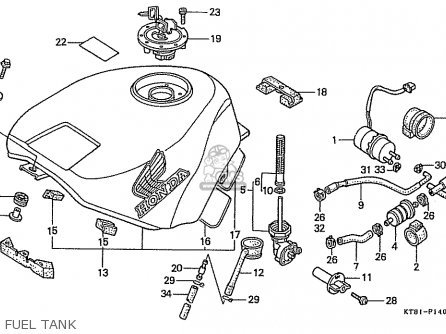 Honda Cbr400rrk (nc23) (japanese Domestic) parts list
