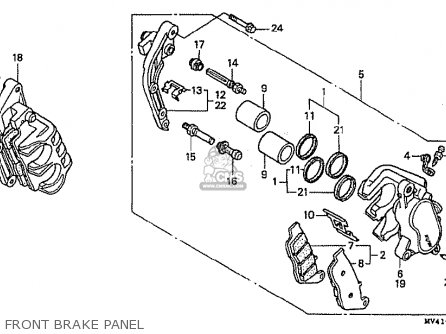 Honda Cbr400rrl (nc29-100) Japanese Domestic parts list