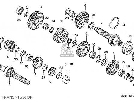 Honda Cbr400rrn (nc29-105) Japanese Domestic parts list