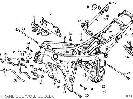 Honda Cbr500f 1987 Austria parts list partsmanual partsfiche