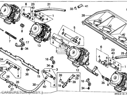 Honda Cbr600f 1990 England / Mkh parts list partsmanual