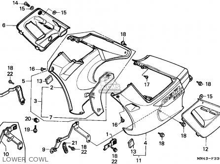 Honda Cbr600f 1990 England / Mkh parts list partsmanual