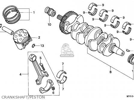 Honda Cbr600f 1991 Switzerland / Kph parts list