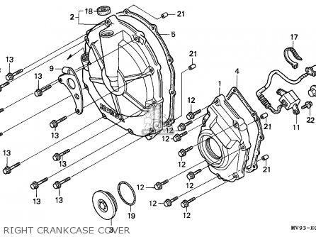 Honda Cbr600f 1993 England / Kph parts list partsmanual