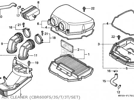 Honda Cbr600f 1996 Spain / Kph parts list partsmanual