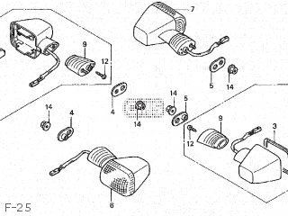 Honda Cbr600f 1999 (x) Japan Pc35-100 parts list