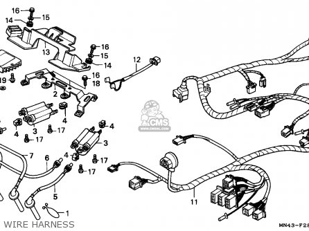 Honda CBR600F HURRICANE 1987 (H) CANADA / MKH parts lists