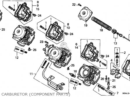 Honda Cbr600f Hurricane 1987 (h) England / Mkh parts list