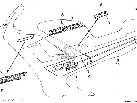 Honda CBR600F HURRICANE 1987 (H) GERMANY / KPH 50P parts